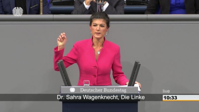 Wagenknecht warnt vor Politik gegen die Bürger: Merkels 'Weiter so' führt in den Faschismus