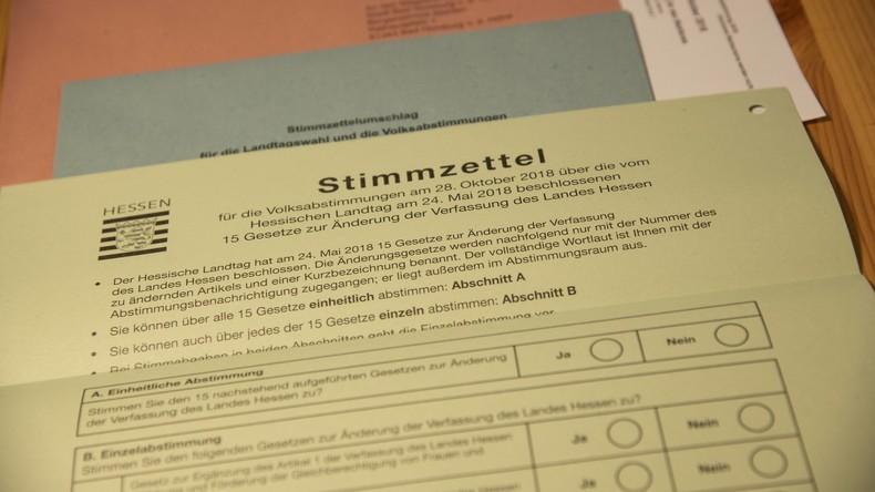 Endgültiges Ergebnis vorgelegt: Hessen nehmen Verfassungsreform an