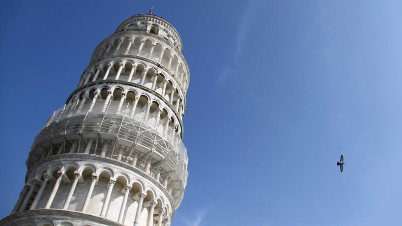 Schiefer Turm von Pisa immer weniger schief