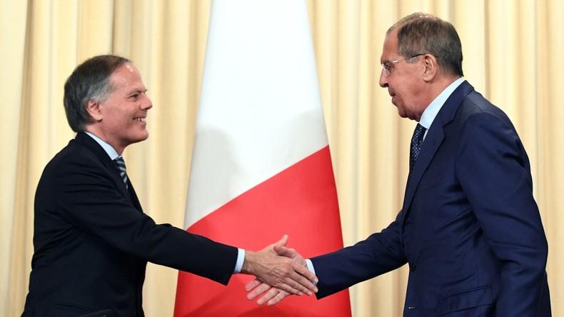 Lawrow in Rom: Wir wissen es zu schätzen, dass Italien Vertrauen zu Russland aufrechterhält