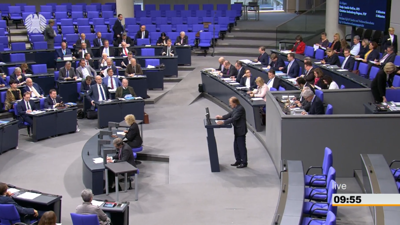 """AfD im Bundestag zum UN-Migrationspakt: """"Sie bewegen sich im Eiltempo in Richtung Totalitarismus!"""""""