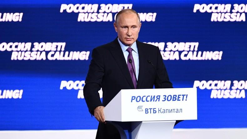 "Live: Wladimir Putin nimmt an Investitionsforum ""Russland ruft!"" teil"