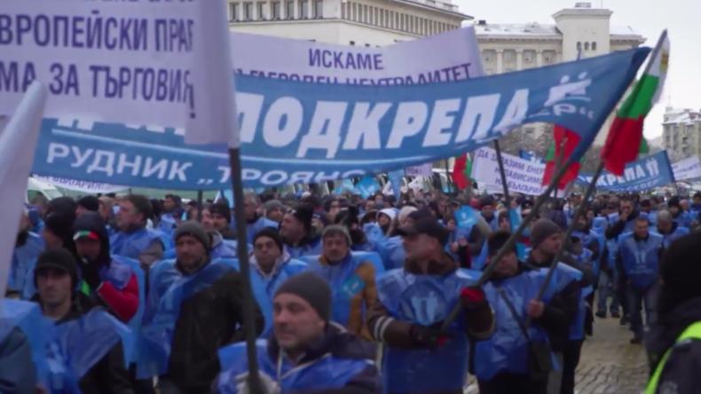 Bulgarien: Bergleute demonstrieren für den Erhalt der Kohleindustrie