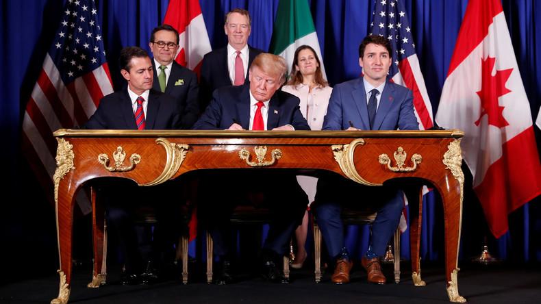 USA, Mexiko und Kanada unterzeichnen neues Freihandelsabkommen