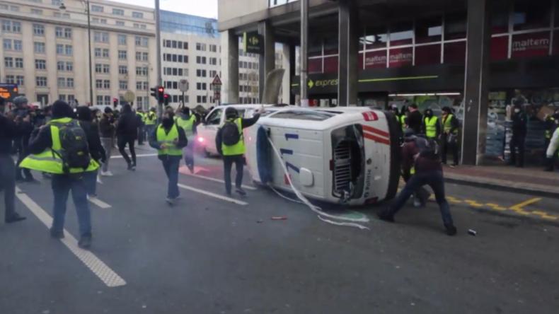 """Belgien: Brüssels """"Gelbwesten""""-Proteste enden in Ausschreitungen"""