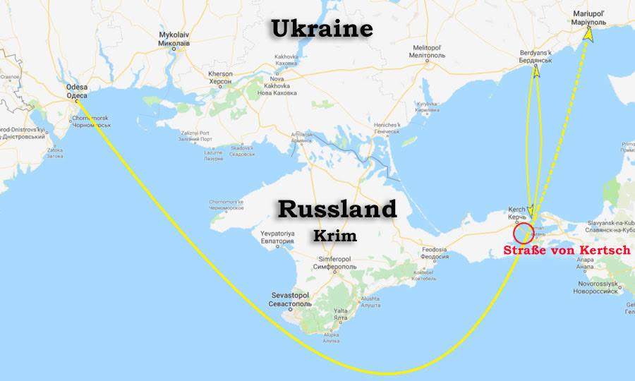 FSB: Nach Territorialverletzung setzen russische Schiffe Waffengewalt gegen ukrainische Marine ein
