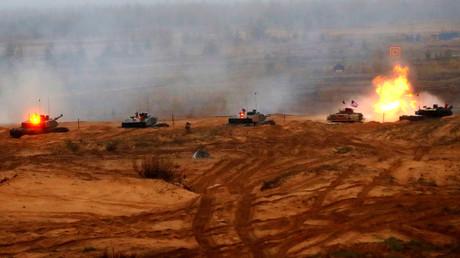 NATO-Panzer bei einer Übung in Lettland im Oktober 2018