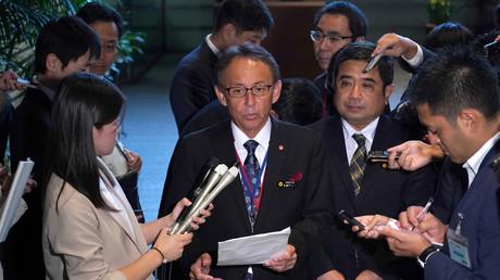 Der Gouverneur Okinawas, Danny Tamaki, Tokio, Japan, 12. Oktober 2018.