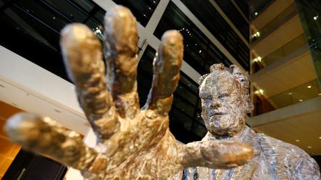 Willy-Brandt-Statue, Berlin, Deutschland, 28. Oktober 2018