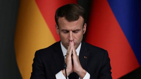 Der französische Präsident Emmanuel Macron bei einer Pressekonferenz nach dem Syrien-Gipfel in Istanbul, 27. Oktober 2018.