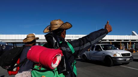 Migranten aus Zentralamerika, Mexiko-Stadt, Mexiko, 5. November 2018.