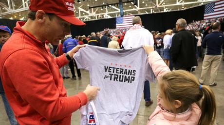 Unterstützer von US-Präsident Donald Trump, Cleveland, Ohio, USA, 5.November 2018.