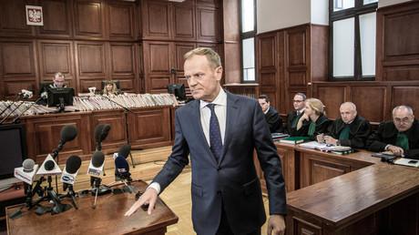 EU-Ratspräsident Donald Tusk, Warschau, Polen, 23. April 2018.