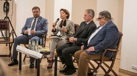 Veronika Krascheninnikowa im Moskauer Museum für neuere russische Geschichte