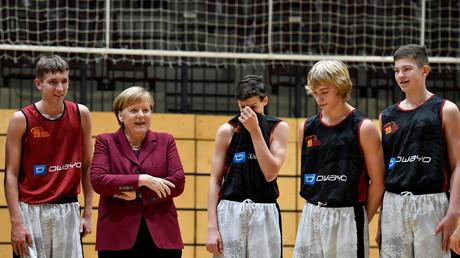 Bundeskanzlerin Angela Merkel in Chemnitz
