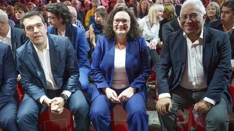 SPD-Chefin Andrea Nahles beim