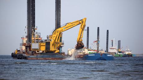 In der Ostsee ist der Bau der Nord Stream 2 Pipeline im vollen Gange.