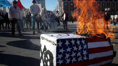 Proteste gegen die US-Handelspolitik im Vorfeld des G-20 Treffens in Buenos Aires, Mar del Plata, Argentinien