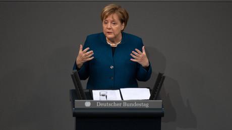 Bundeskanzlerin Angela Merkel gab sich kämpferischer als bei früheren Generaldebatten im Bundestag. Beim Thema Migration wurde die Kanzlerin emotional.