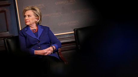 Hillary Clinton bei der jährlichen Rodham-Clinton Auszeichnungszeremonie, Georgetown Universität in Washington, USA, 5. Februar 2018.