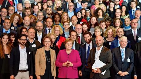 Bundeskanzlerin Angela Merkel bei der Verleihung des Integrationspreises im Oktober 2018