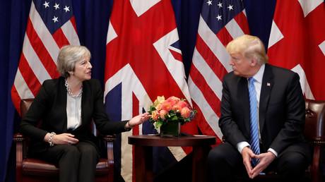 Die britische Premierministerin Theresa May, US-Präsident Donald Trump, UN-Generalversammlung, New York, USA, 26.September 2018.