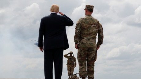 US-Präsident Donald Trump, Fort Drum, New York, USA, 13. August 2018.