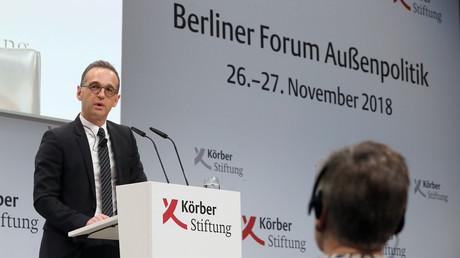 Bundesaußenminister Heiko Maas hielt die Eröffnungsrede beim