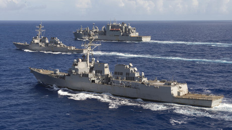 Dieses Foto der US-Marine vom 28. Oktober 2016 zeigt mehrere Lenkwaffenzerstörer.