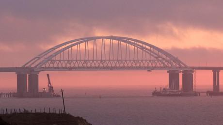 Ziel einer Sabotageaktion? Die Krim-Brücke im November 2018