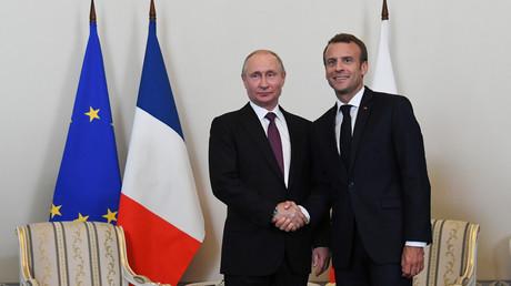 Putin und Macron sprechen über Ukraine und Syrien (Archivbild)