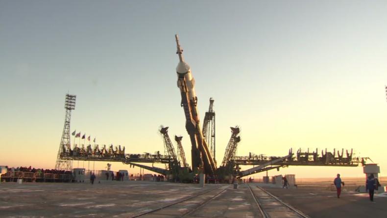 Startvorbereitungen für die ISS-Mission in Baikonur