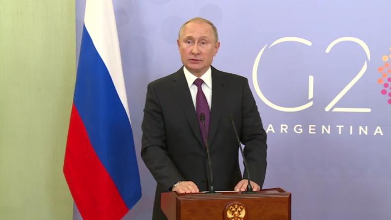 """Putin: """"Ich habe Trumps Frage zum Vorfall im Schwarzen Meer kurz beantwortet"""""""