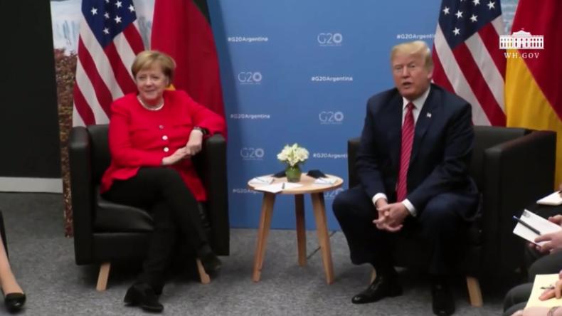 """Trump: """"Merkel ist meine Freundin"""" – Bundeskanzlerin trifft sich mit US-Präsident bei G20"""