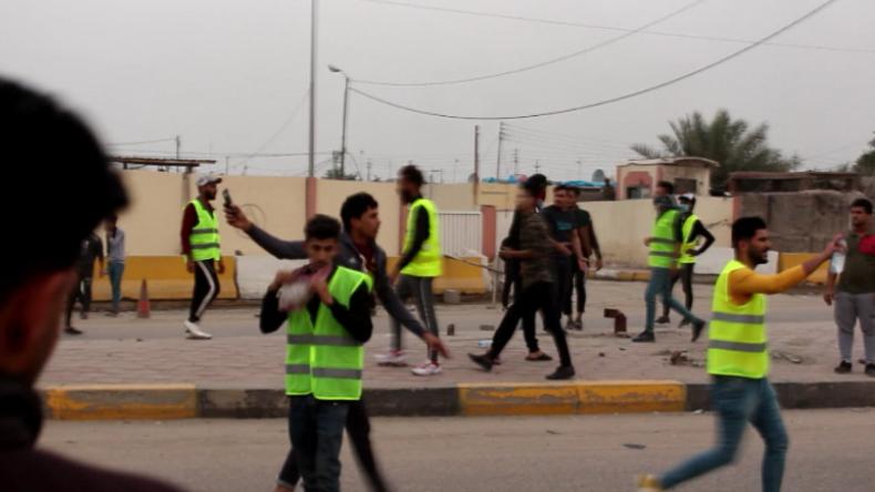 Frankreich als Vorbild? Aktivisten im Irak ziehen in gelben Westen zum Protest