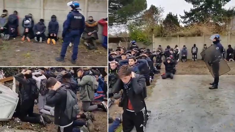 """""""Bilder wie vom IS"""" - Festnahme französischer Schüler durch Polizei sorgt für Entsetzen (Videos)"""