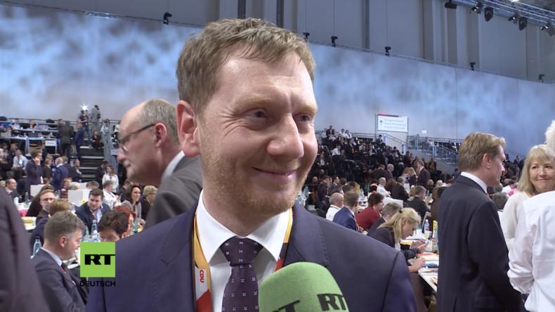 Reaktionen prominenter CDU-Delegierter zur Wahl von Kramp-Karrenbauer (Videos)