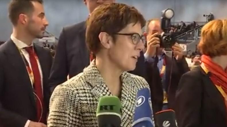 Erste Stellungnahme der neuen CDU-Chefin Annegret Kramp-Karrenbauer