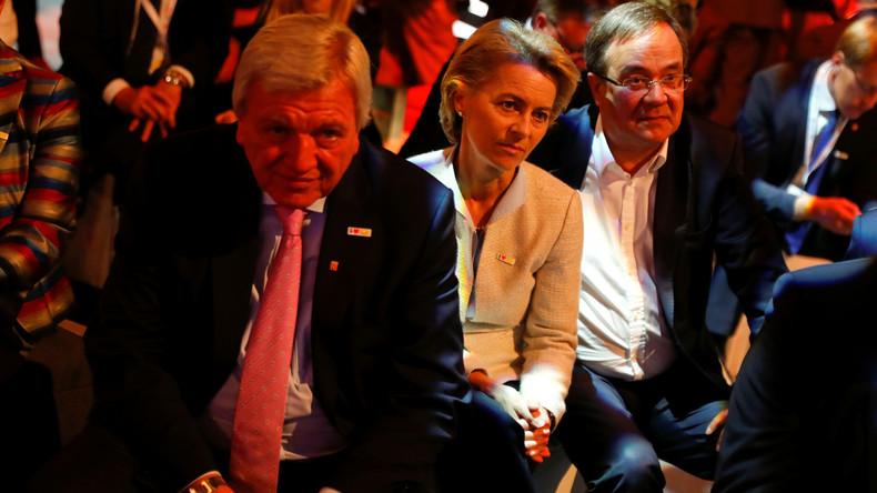 Stellvertretender CDU-Vorsitz: Bestes Wahlergebnis für Bouffier, schlechtestes für von der Leyen