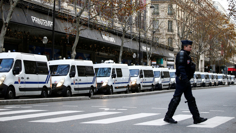 """Französische Polizei nimmt vor """"Gelbwesten""""-Protesten in Paris über 270 Personen fest"""