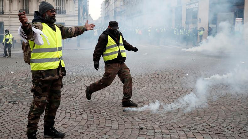 Live-Updates aus Paris: Zusammenstöße zwischen Gelbwesten und Polizei