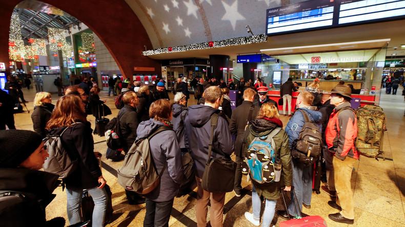 Fernverkehr der Bahn wegen Warnstreiks bundesweit eingestellt