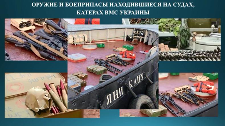 FSB: Beschlagnahmte ukrainische Schiffe hatten mehr Munition und Waffen an Bord als üblich