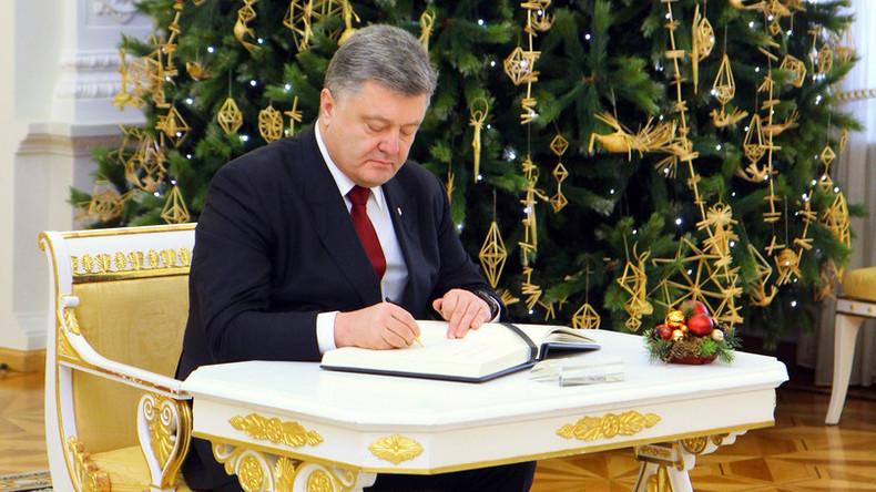 Petro Poroschenko unterzeichnet Dekret über Kündigung des Freundschaftsvertrags mit Russland