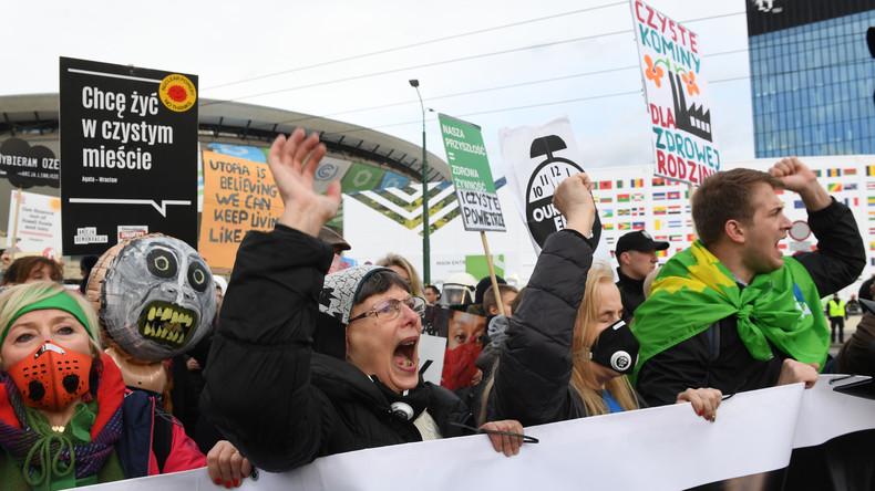 Umweltverschmutzer sponsern UN-Klimakonferenz in Polen – Russlandschelte als Begleiterscheinung
