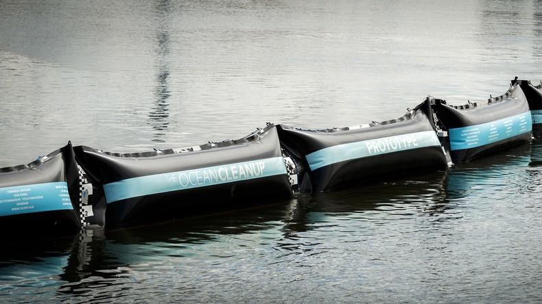 """Unvorgesehene Probleme bei Plastikmüll-Fänger """"Ocean Cleanup"""": Anlage hält Plastik nicht fest"""