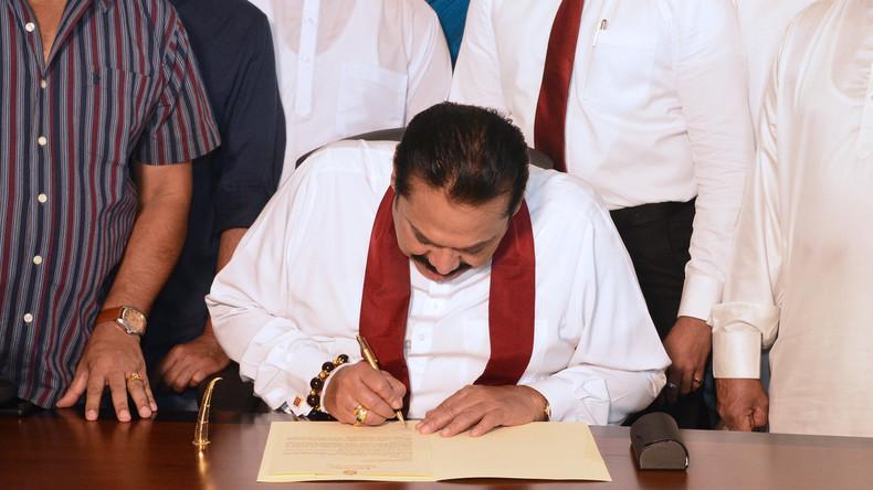 Sri Lankas Premierminister tritt nach wenigen Wochen im Amt zurück