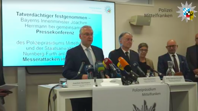 Pressekonferenz: Messer-Angreifer von Nürnberg war polizeibekannter Strafttäter