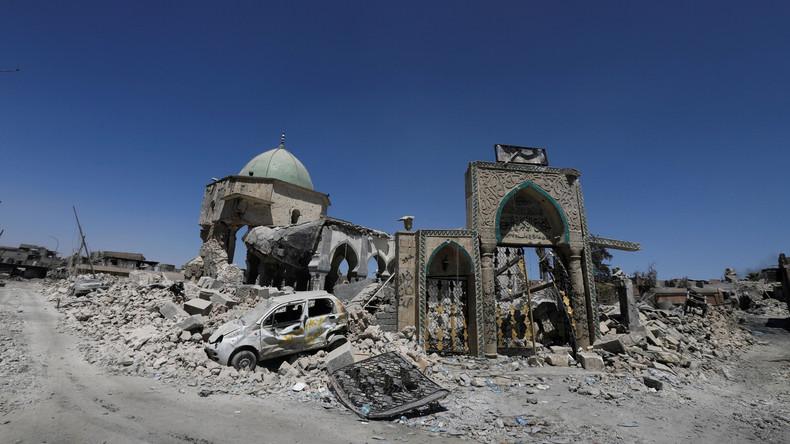 Vom IS zerstörte Moschee in Mossul wird wiederaufgebaut