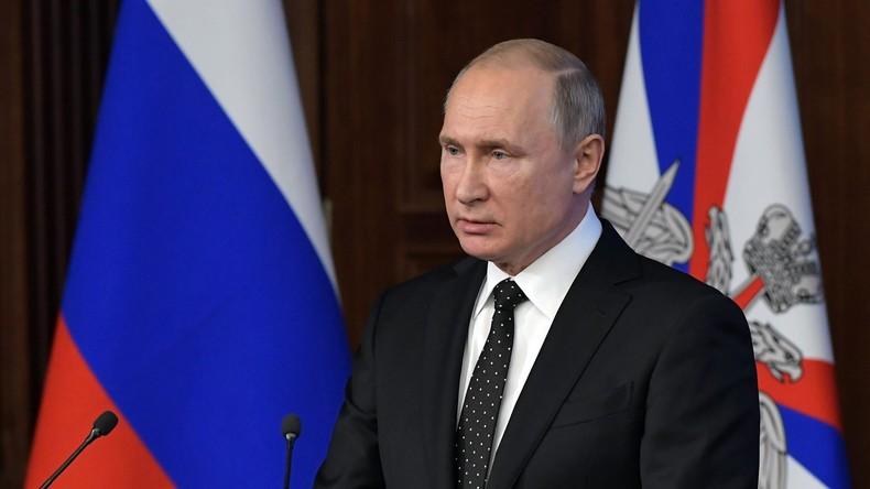 Putin: USA haben INF-Vertrag schon längst selbst verletzt